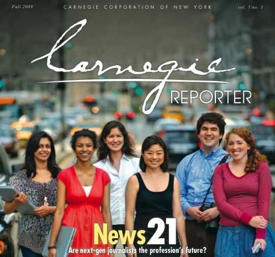 Carnegie Reporter Cover, Copyright Carnegie Foundation